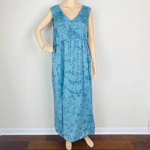 J. Jill Floral Print Sleeveless Cotton Maxi Dress